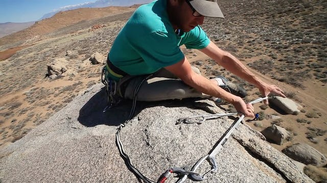 Basic & Intermediate Outdoor Climbing: 6. Top Rope Anchor - Using a Double Length Sling