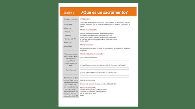 Sacramentos Fe, Eucaristía, Guía de estudio