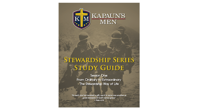 Kapaun's Men Stewardship Series Study Guide