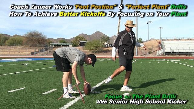 #6 Coach Zauner Works Drills To Achieve Better Kickoffs with High School Kicker