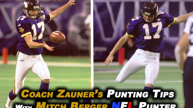 #11 Coach Zauner Teaches His Power Zone Punting Technique with Mitch Berger