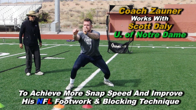 #11 Coach Zauner's ONE on ONE Snapping Lesson with Scott Daly U. of Notre Dame