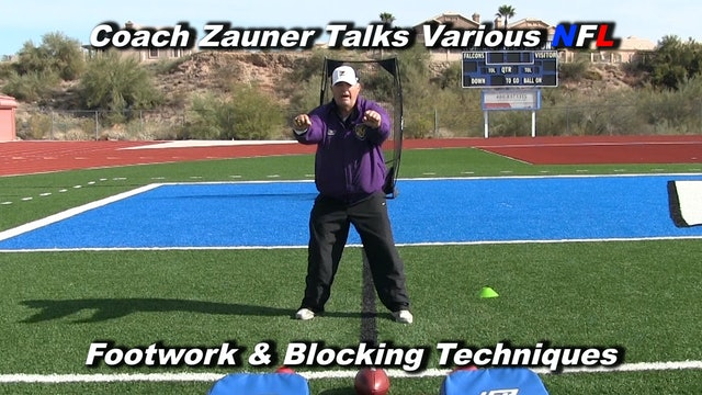 #12 Coach Zauner Talks Various NFL Footwork & Blocking Techniques