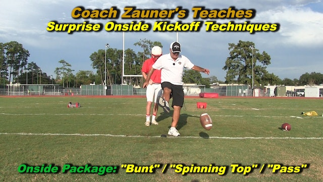#12 Coach Zauner Teaches A Surprise Onside Kickoff Technique Package