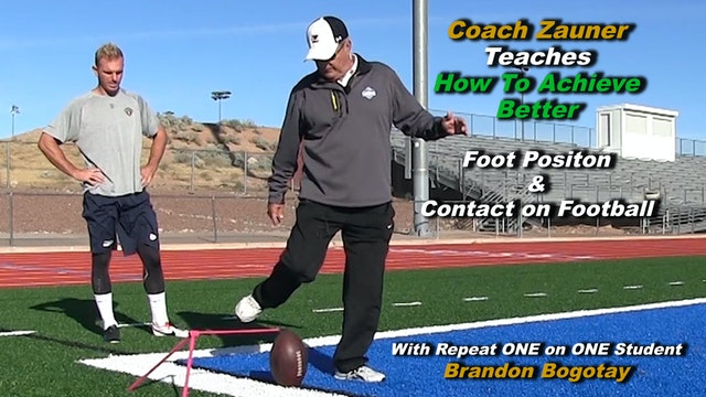 #7 Coach Zauner Teaches How To Achieve Better Foot Position on the Football