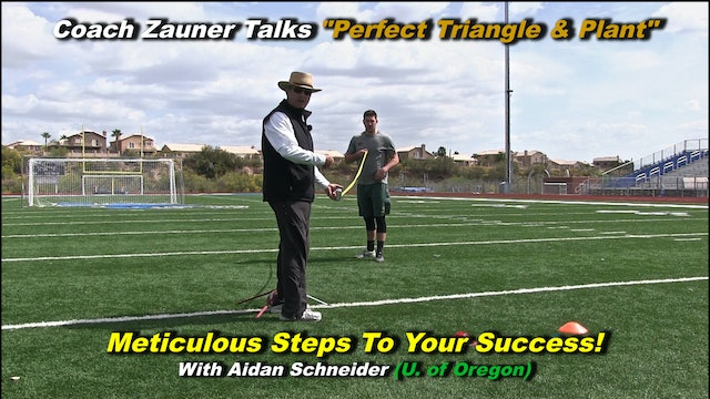 """#5 Coach Zauner Works """"Perfect Triangle & Perfect Plant"""" with College Kicker"""