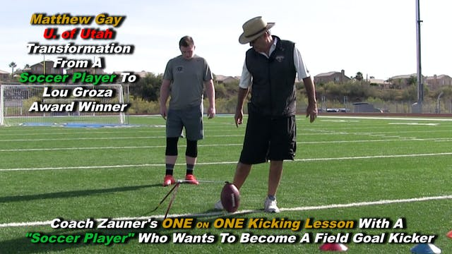 #8 Coach Zauner's ONE on ONE Kicking ...