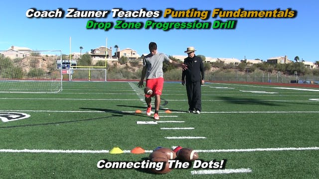 #2 Coach Zauner Teaches the Drop Zone Progression Drill - Connecting the Dots!