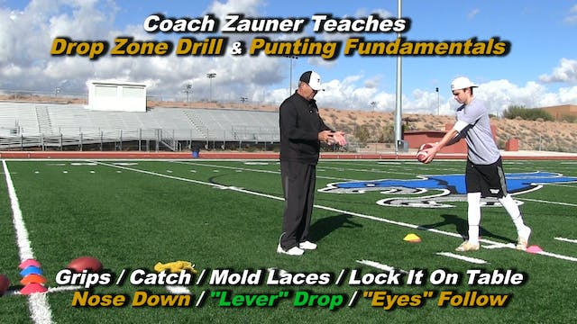 #3 Coach Zauner Teaches the Drop Zone Drill with a Nose Down Lever Drop