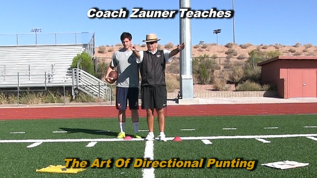 #11 Coach Zauner Teaches The Art of Directional Punting with a College Punter