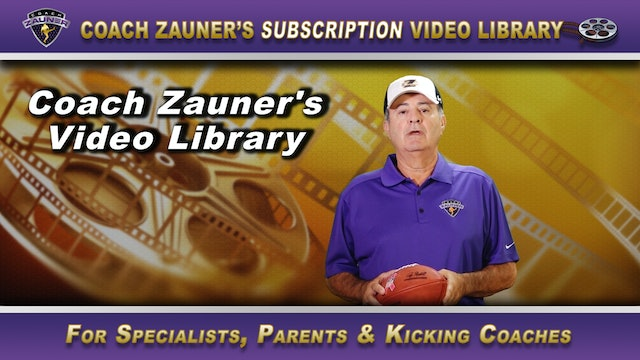 Video Library for Punter's - Includes 14 Videos