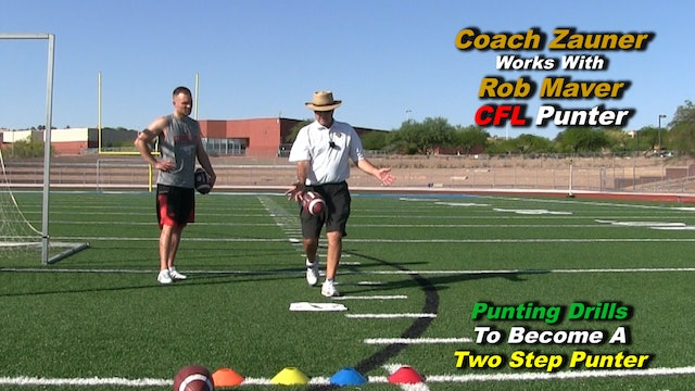 #7 Coach Zauner's ONE on ONE Punting Lessons with Rob Maver CFL Punter