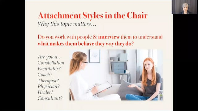 Attachment Styles in the Chair