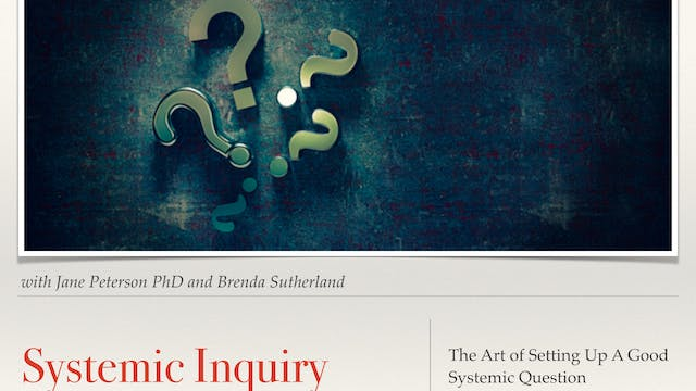 Systemic Inquiry: How to Ask a Good Systemic Question to Set up