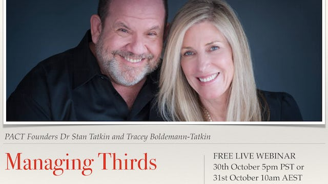 The Art of Managing Thirds with Dr Stan Tatkin and Tracey Boldemann-Tatkin