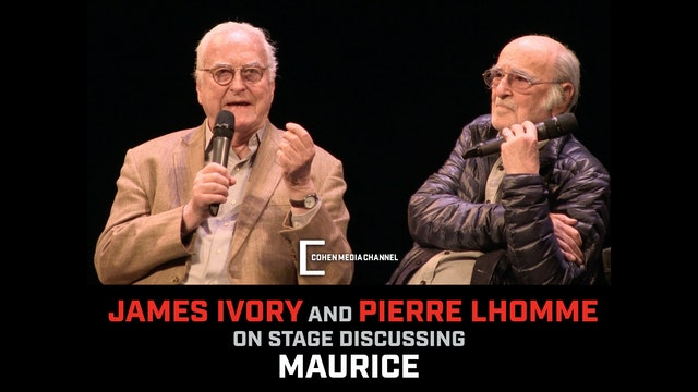 On Stage with James Ivory and Pierre Lhomme Discussing Maurice