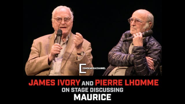 On Stage with James Ivory and Pierre ...