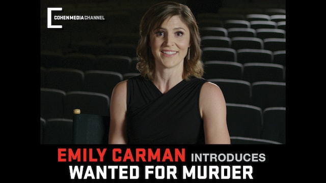 Emily Carman introduces Wanted For Murder