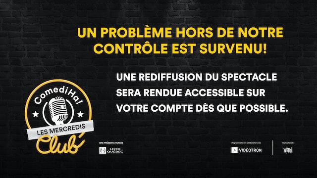 14 AVR 2021 | 20h | Les Mercredis ComediHa! Club animés par P-A Méthot