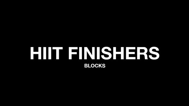 HIIT FINISHERS