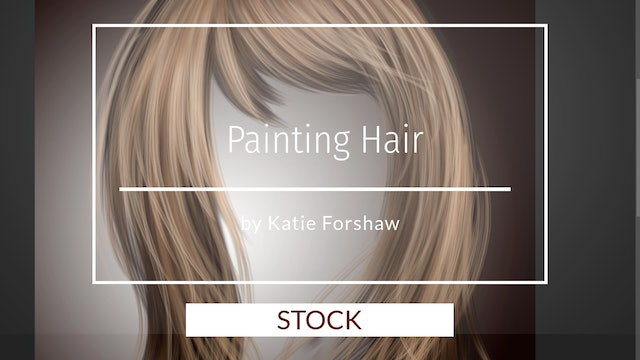 Painted Hair PSD stock and hair brushes