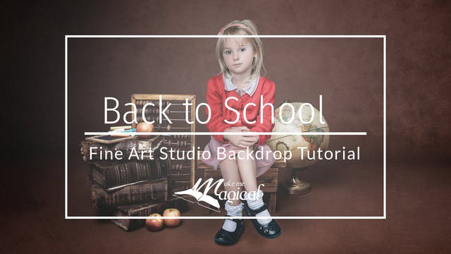 Back to School Fine Art Backdrop Tuto...