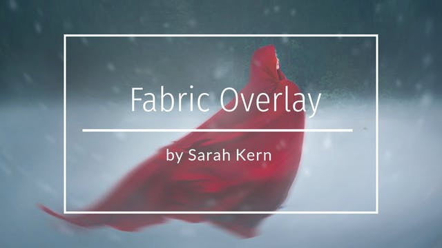 How to do a fabric overlay by Sarah K...