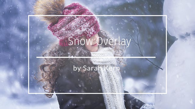 How to do a Snow Overlay by Sarah Ker...
