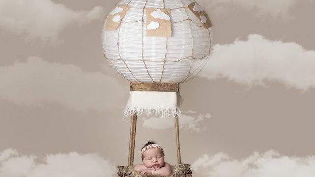 Hot Air Balloon Newborn tutorial by Pixiedrops