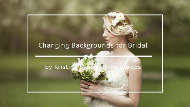 Changing Backdrops for Bridal
