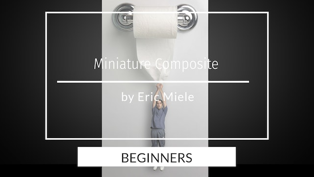 Mini me hanging from toilet paper composite Beginners by Eric Miele April 2020