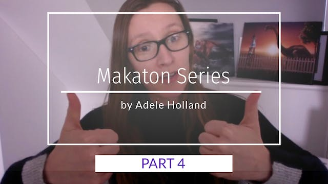 Makaton Sign Language Part 4 by Adele...