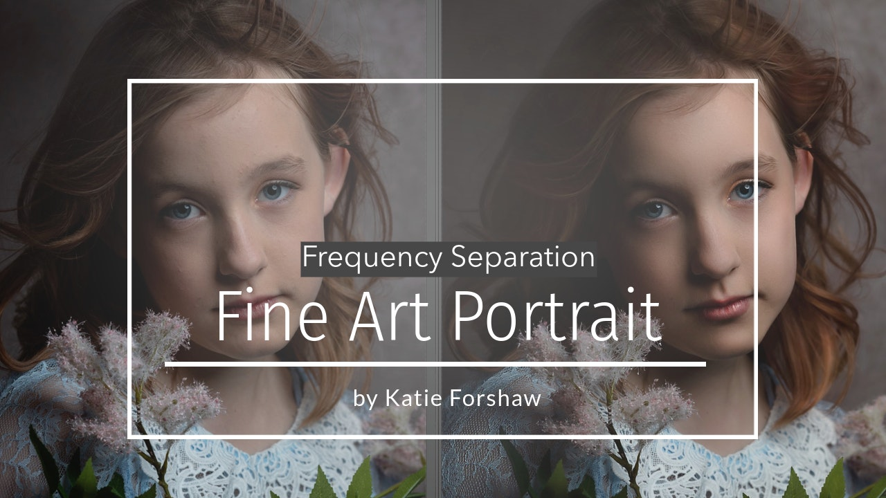 Fine Art Frequency Separation Portrait by Katie Forshaw May 2021
