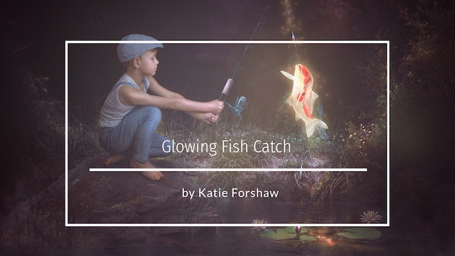 Glowing fish catch by Katie Forshaw Makememagical