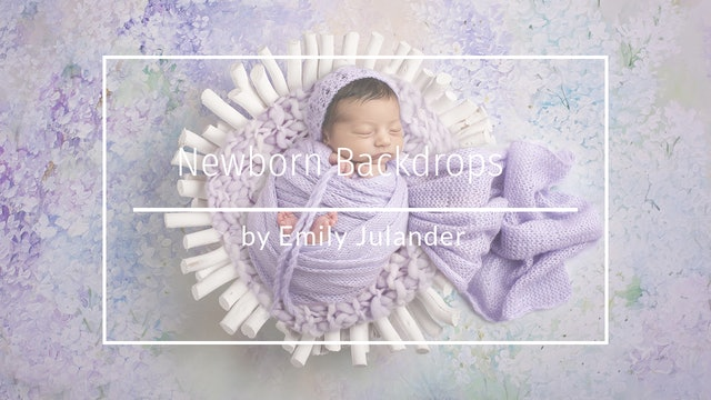 How to use a Newborn digital backdrop by Emily Julander Feb 2020