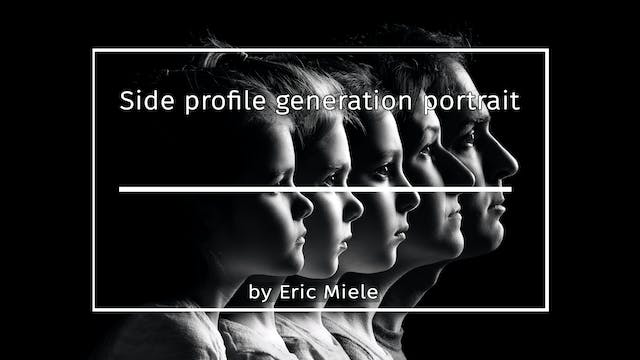 Side profile generation portrait by Eric Miele