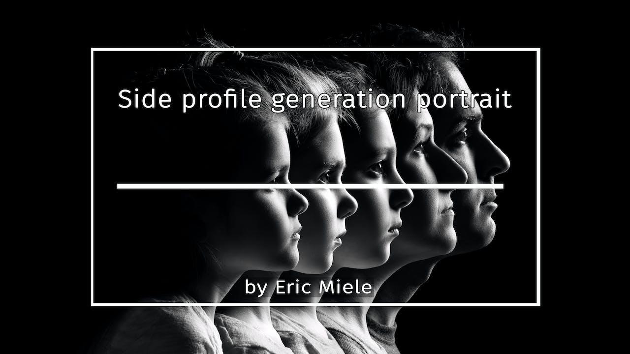 Side profile generation portrait by Eric Miele