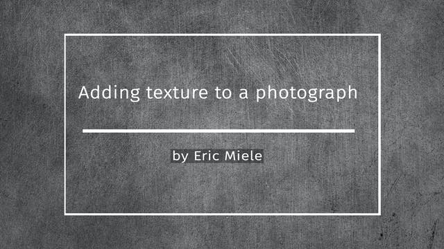 Adding texture to a photo in photosho...