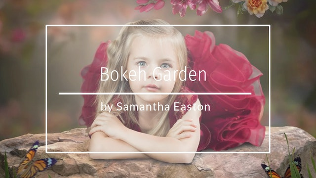 Bokeh Garden Backdrop and Composite by Samantha Easton