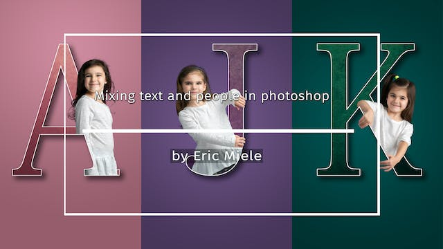 Mixing text and people in photoshop b...