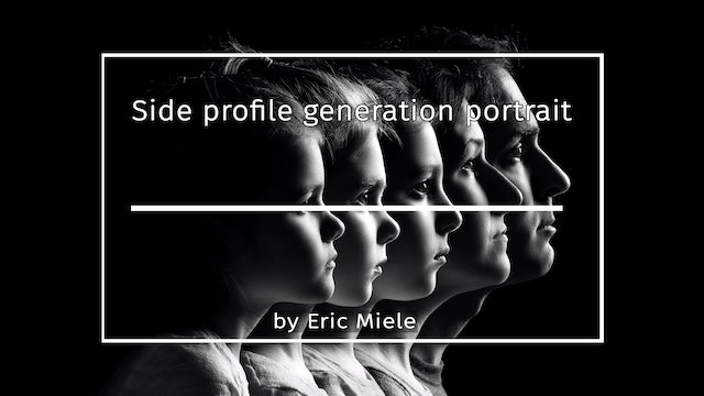 Side profile generation portrait by Eric Miele MARCH 2021