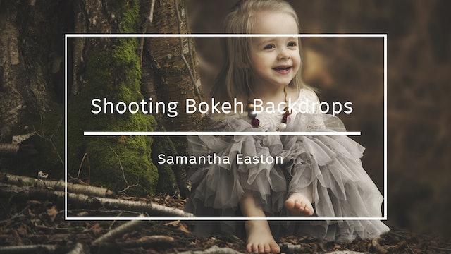 On location, shooting bokeh backdrops, BTS - Samantha Easton July 2020