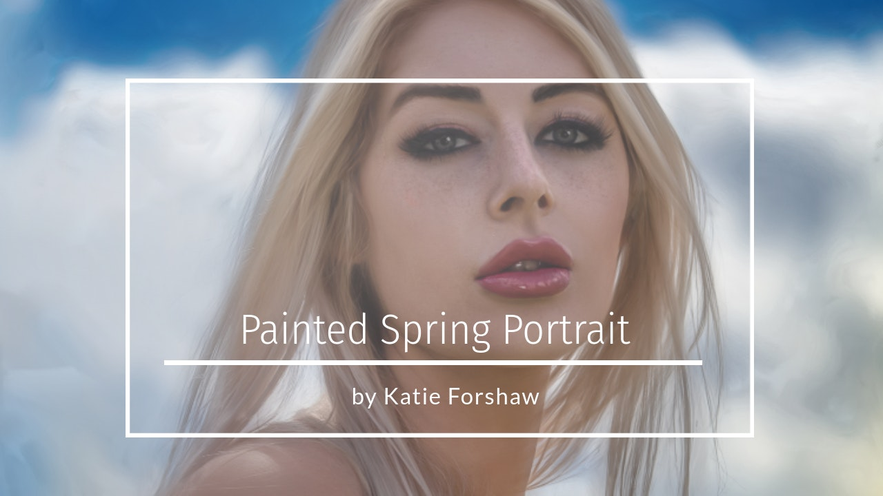 Painted Spring Portrait by Katie Forshaw Makememagical May 2021