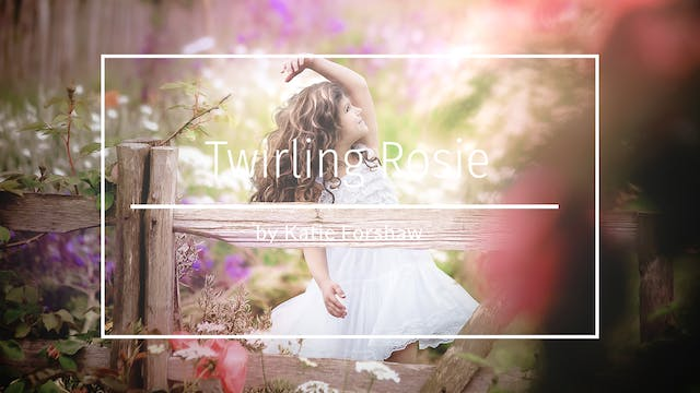 Twirling Rosie - a summer garden edit...