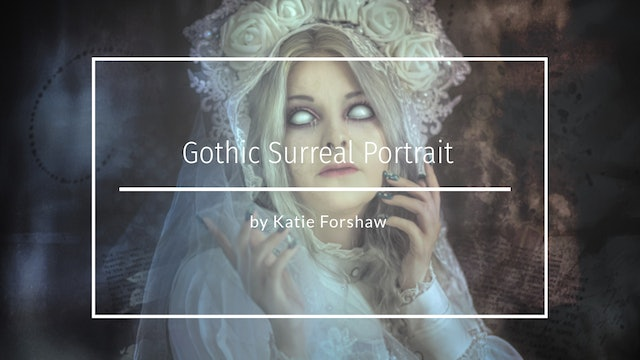 Gothic Surreal Painterly Portrait by Katie Forshaw - April 2021