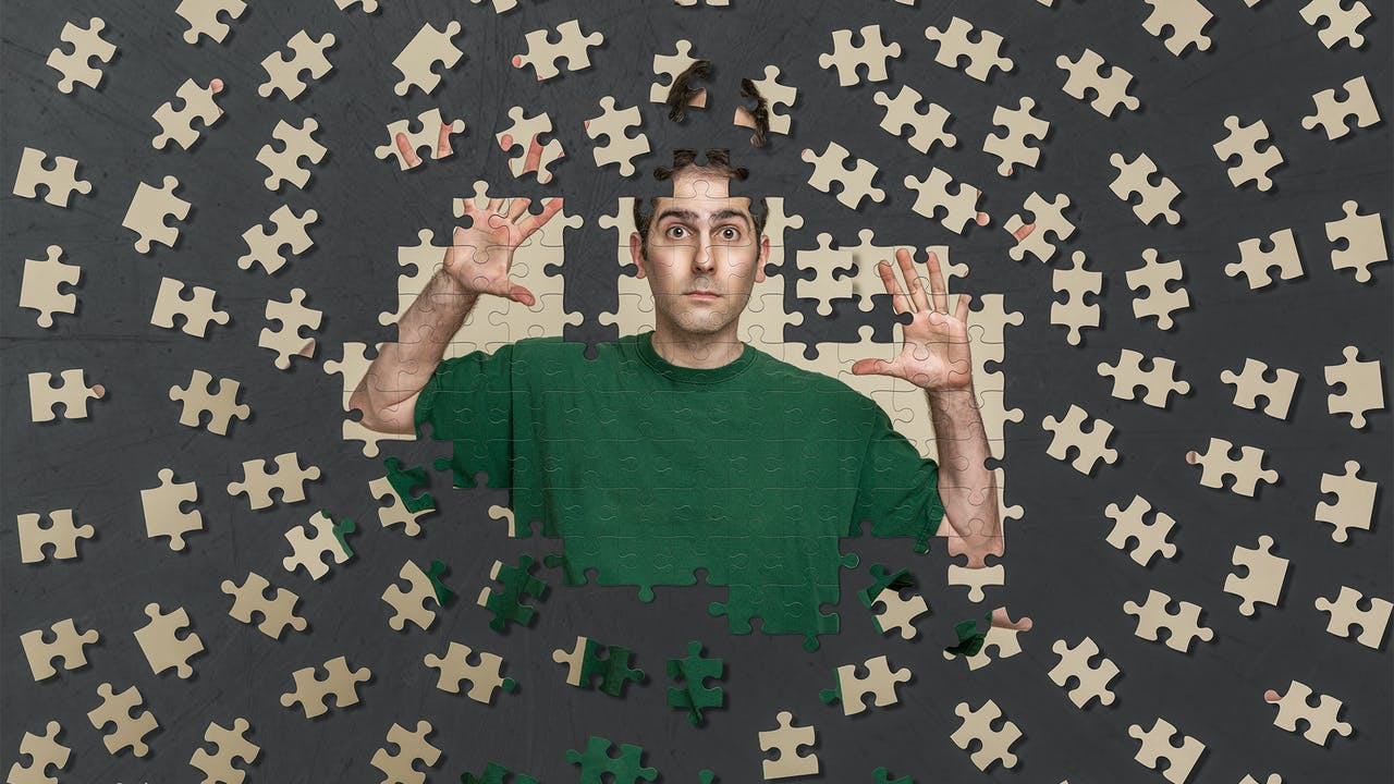 Scattered puzzle composite tutorial by Eric Miele