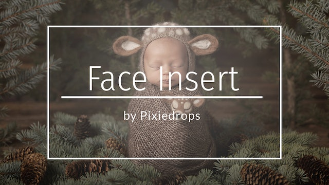 Newborn Face Insert by Pixiedrops