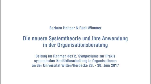 Die neuere Systemtheorie und ihre Anwendung in der Organisationsberatung