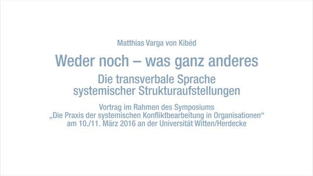 Die transverbale Sprache systemischer...