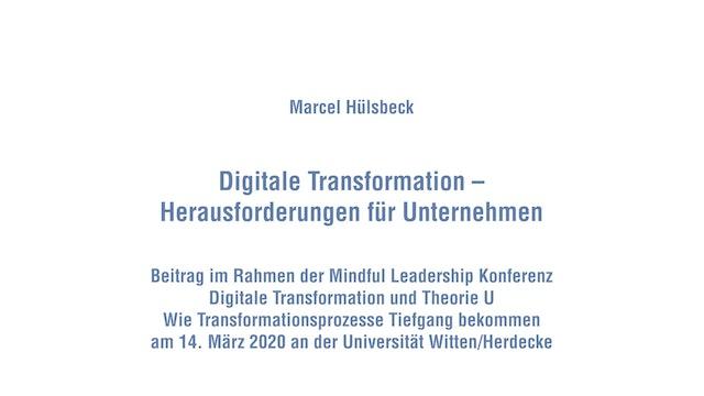 13-1 Digitale Transformation – Herausforderungen für Unternehmen